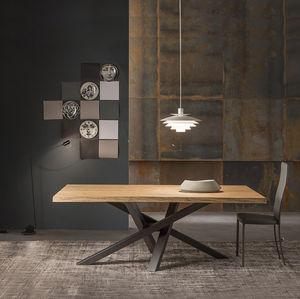 Tavolo Legno Grezzo Moderno.Tavoli Da Pranzo In Cristallo Allungabili