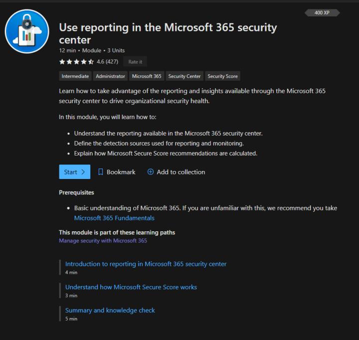 Moduł szkolenia w Microsoft Learn