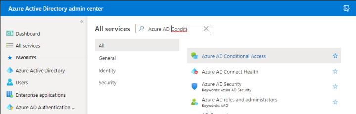 Konfiguracja dostępu warunkowego z poziomu Azure AD Admin Center