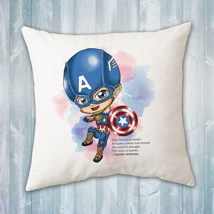 chibi captain america pillow
