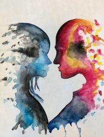 Hot & Cold - Ashton Rose Art - Paintings & Prints, People & Figures, Love &  Romance - ArtPal