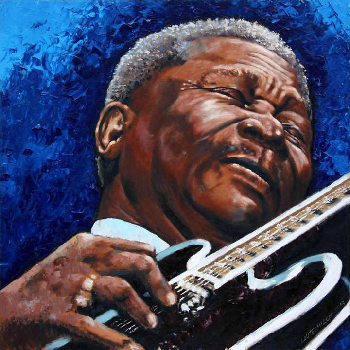 BB King Paintings By John Lautermilch Paintings Amp Prints People Amp Figures Occupations