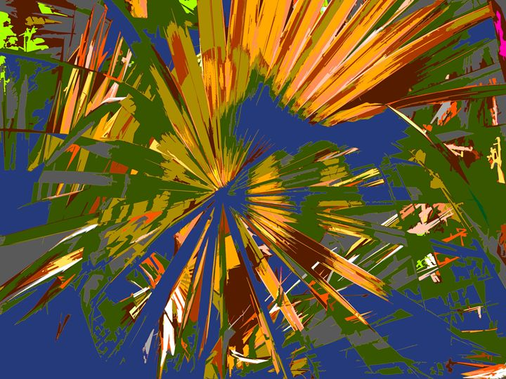 Abstract Palm Tree Paintings