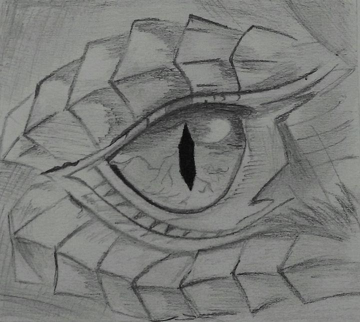 Dragon Eye Pencil Sketch Sibra Zehra Drawings Illustration Abstract Organic Artpal