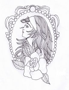 Girl In Frame Ericas Drawing Drawings Amp Illustration