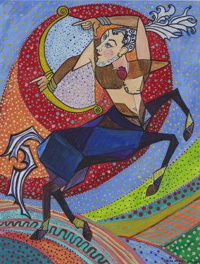 Image result for sagittarius centaur painting