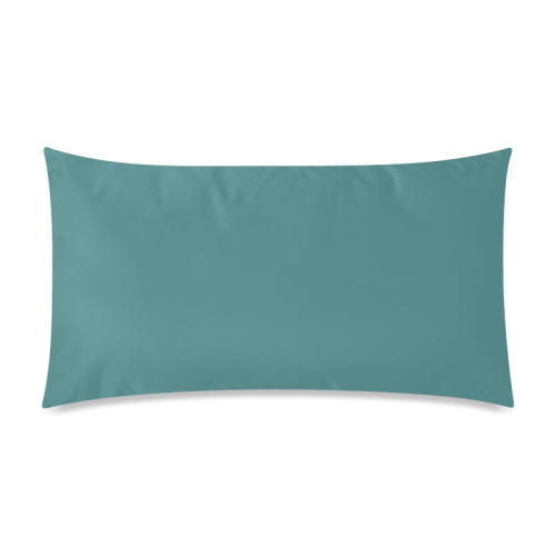 teal color accent rectangle pillow case 20 x36 twin sides id d231194
