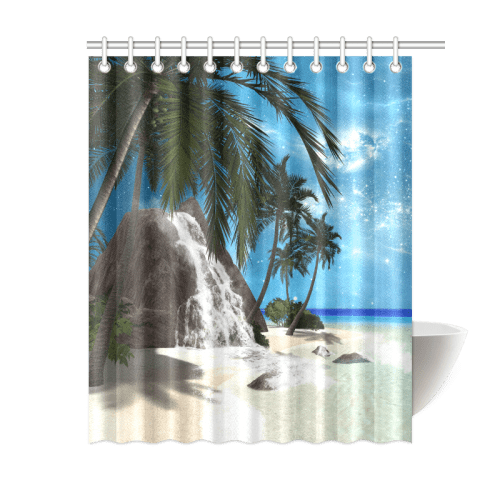 seascape in the night shower curtain 60 x72 id d335497