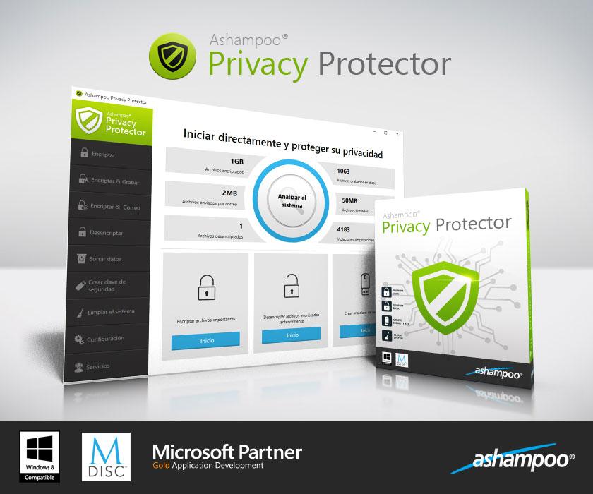 Resultado de imagen de Ashampoo Privacy Protector Version