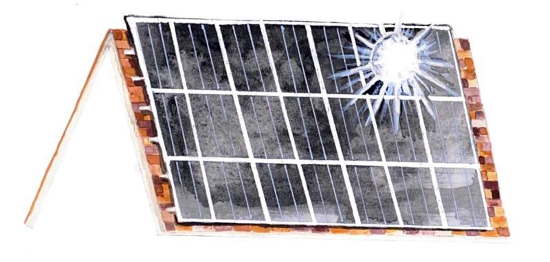 Section break: An illustration of a solar panel.
