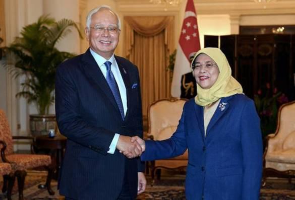 PM Najib kunjung hormat Presiden Singapura Halimah di Istana