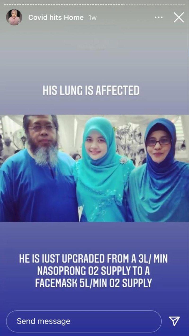Tangkap layar dari Instagram @sakinah_kb gambar kenangan beliau bersama Allahyarham dan ibunya