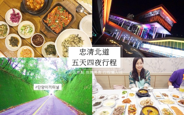 【韓國自由行】忠清北道。五天四夜行程 必去景點 推薦美食 行程懶人包