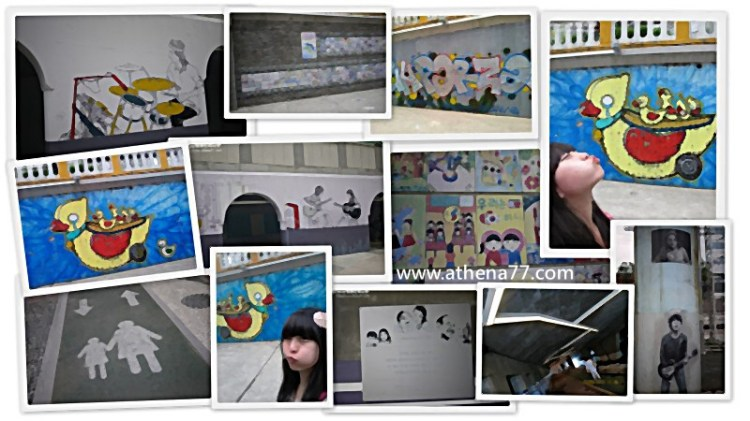 │遊記│韓國五輯。釜山|釜山大學站 ♥ 溫泉川온천천的小壁畫