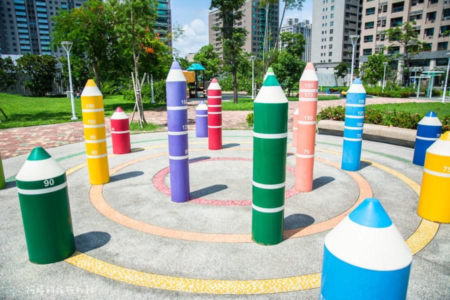 |特色公園|美術館附近隱藏著一座超可愛的鉛筆公園,秀拉兒童遊戲場