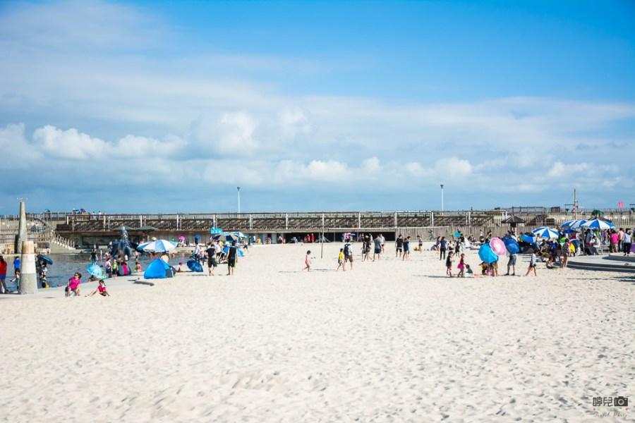  嘉義景點 東石漁人碼頭,夏日玩水好去處,超大沙坑和噴水池讓人玩到欲罷不能