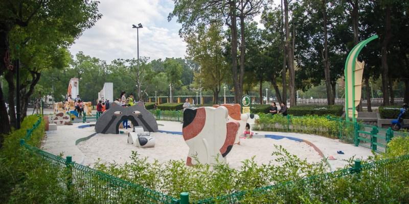 |特色公園|民雄打貓親子廣場,超可愛喵星人陪你一起玩耍