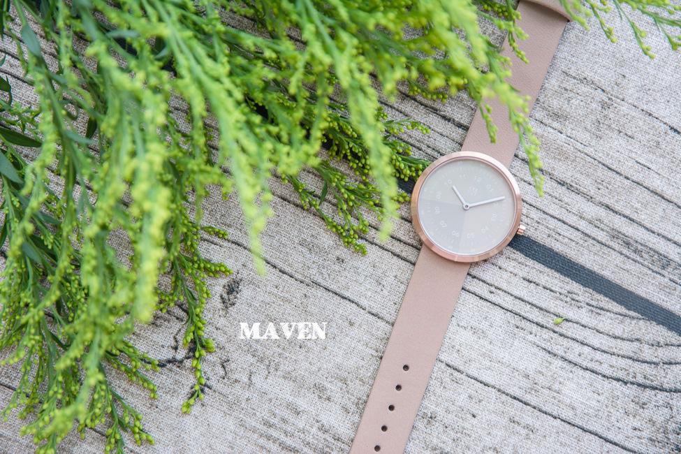  分享 MAVEN WATCHES 簡約設計幾何系列,義大利真皮錶帶,客製化刻字服務