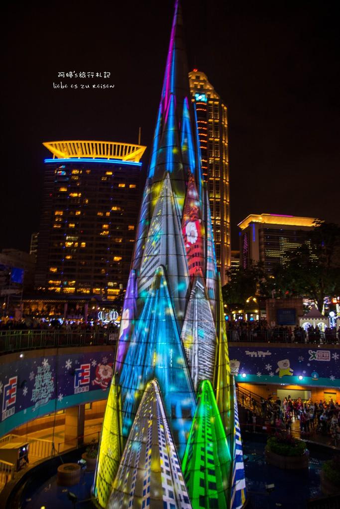  新北‧板橋 2015年歡樂耶誕城Christmas land in New Taipei City,360度3D光雕藝術秀,幸福開城。
