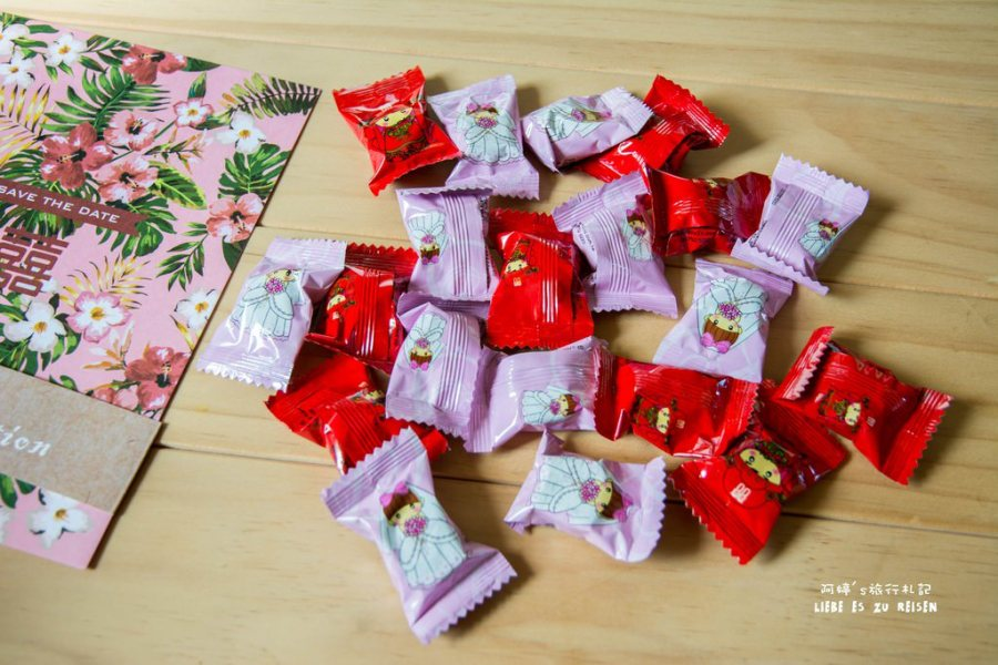 |囍‧Wedding|甜蜜蜜送客小禮還有好友限定棉花糖,讓大家吃在嘴裡甜在心裡