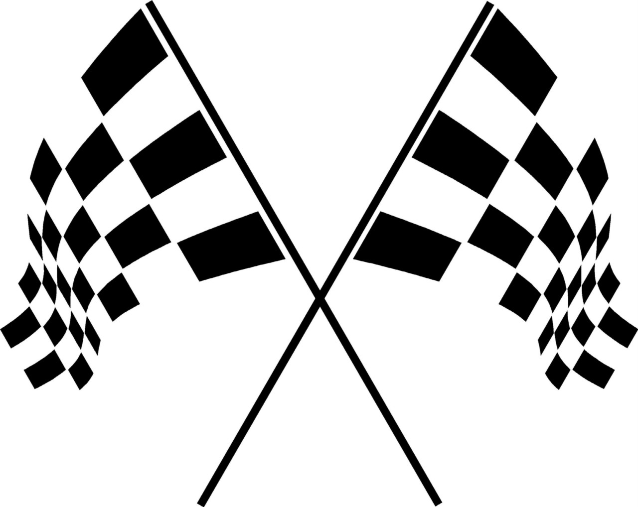 Checkered Racing Flags Vinyl Wall Decal Sticker Art Room Decor Office Garage
