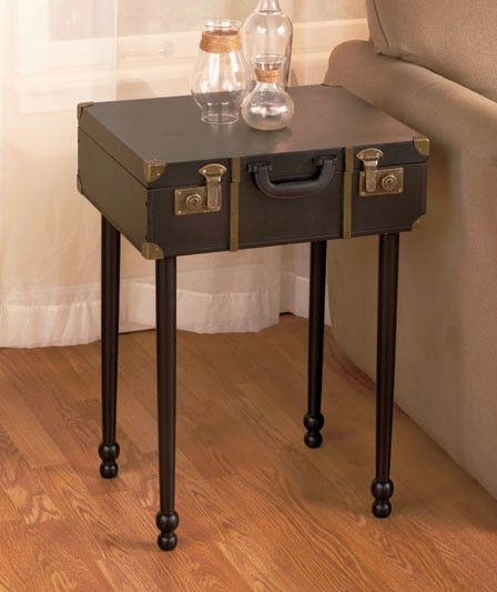Vintage Luggage Storage Trunk Furniture Wall Shelf End Table Coffee Table New EBay