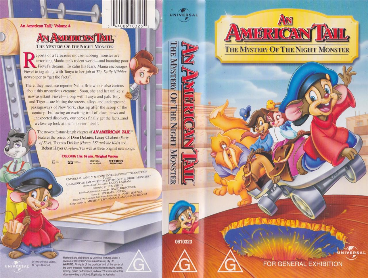 Image result for an american tail 4 vhs box