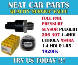 FUEL RAIL PRESSURE SENSOR FOR PEUGEOT 206 307 CITROEN