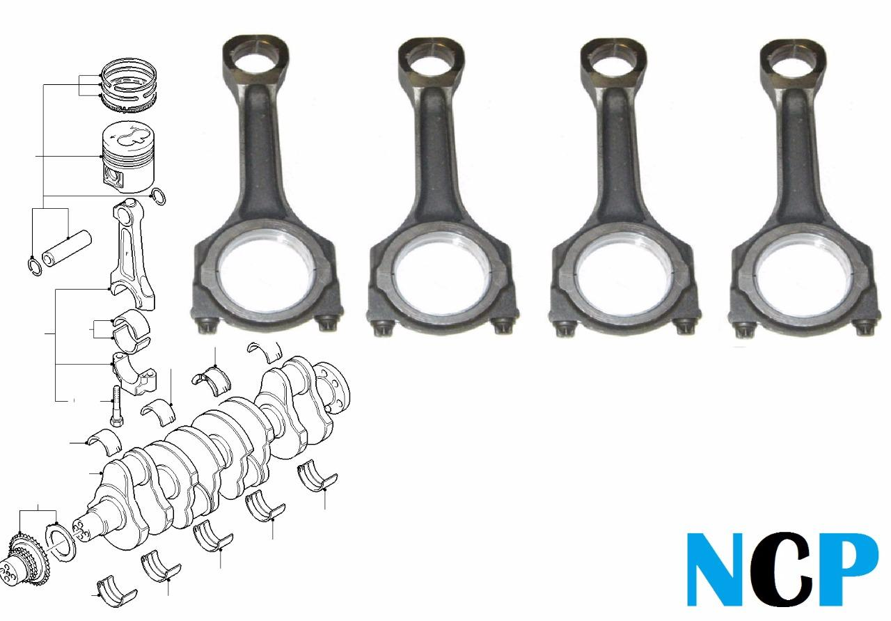 Ford Transit 2 4 Tdci Mk7 Gt Connecting Con Rod Assembly Kit X 4 Gt