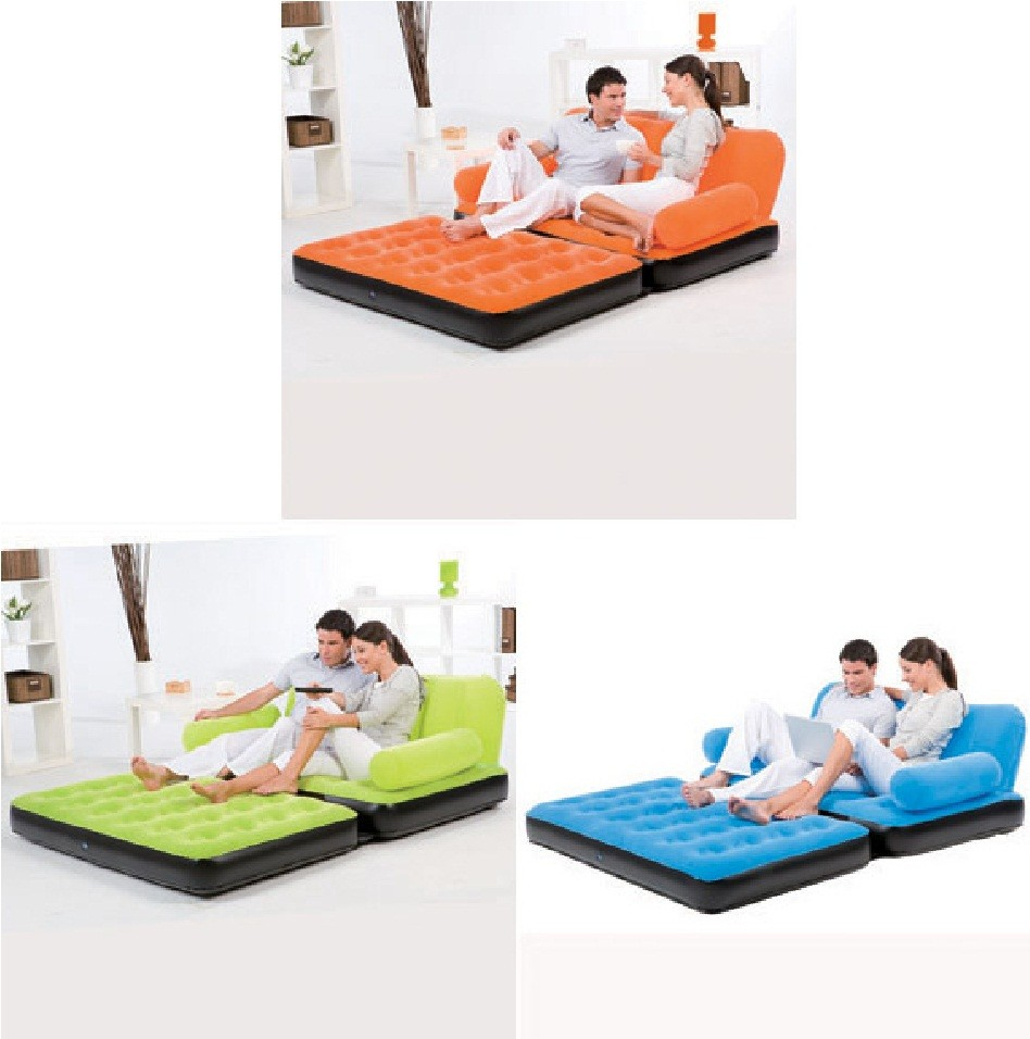 New Inflatable Double 88010 Camping Flocked Air Bed Airbed