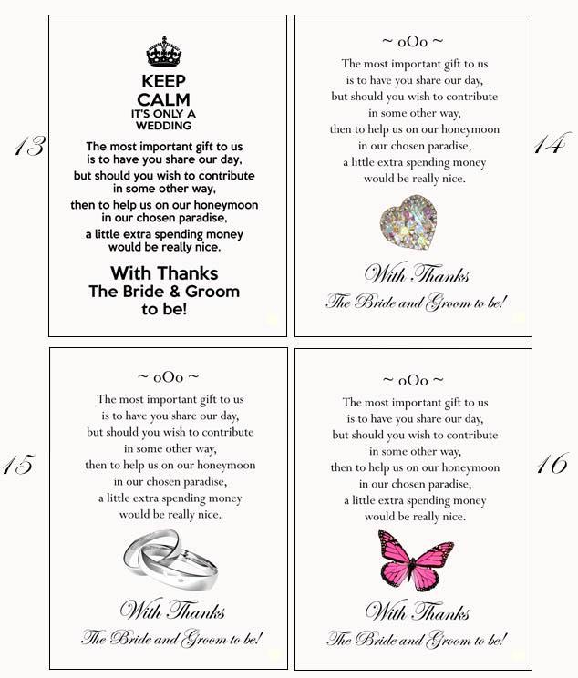 Short Money Poems For Wedding Invitations Invitationjpg