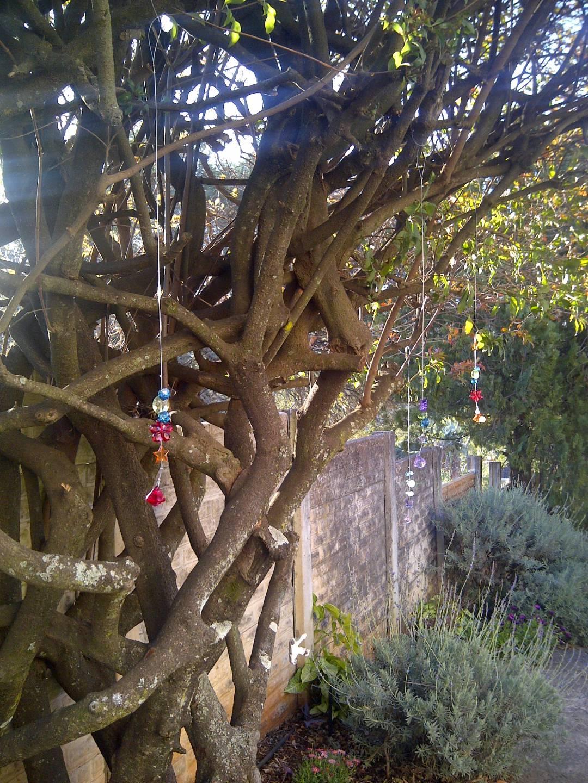 Pretty Sparkling Tree With Beaded Suncatchers