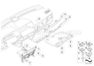 5 Pieces BMW E46 E65 E66 X3 E83 Original Interior Trim