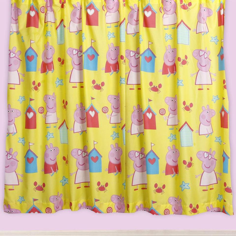 Peppa pig tab top curtains savae peppa pig bedding bedroom decor duvets wall stickers lighting amipublicfo Images