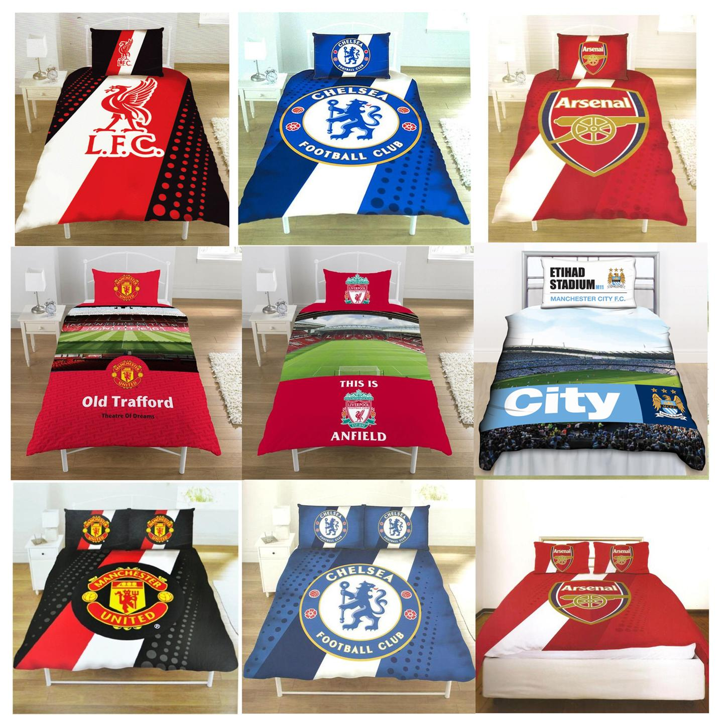 Official Football Club Single And Double FC Duvet Cover