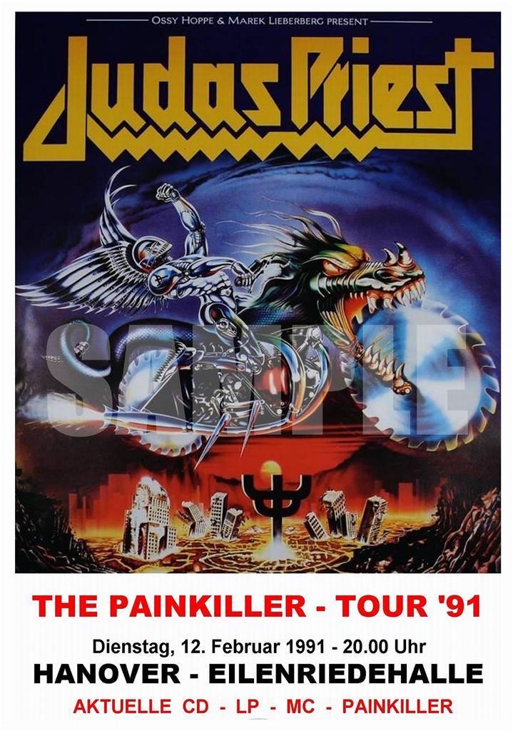 judas priest concert poster painkiller