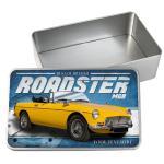Personalised Mgb Roadster Car Tin Classic Retro Storage Box Dad Gift Cl33 Ebay