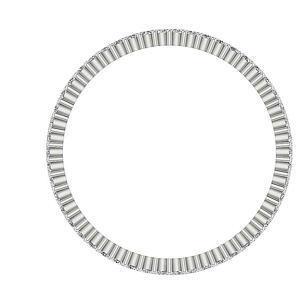 Two Row Round Diamond Eternity Ring Vs1 E 1 02 Ct 14k