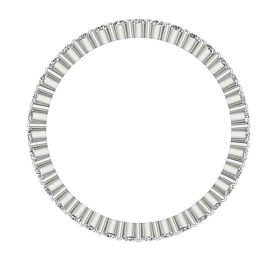 Round Diamond 1 00 Ct Vs1 E Eternity Anniversary Ring 14k
