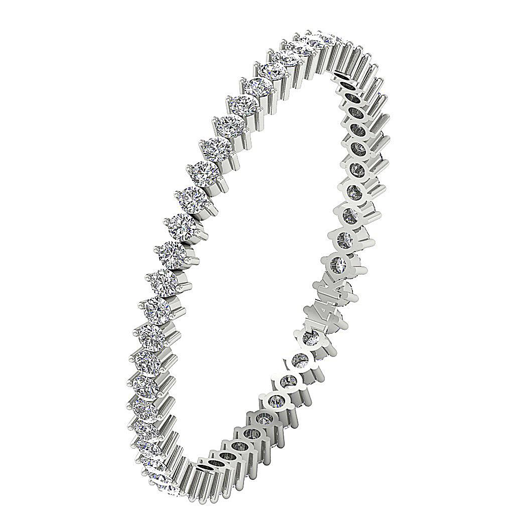 Petite Stackable Eternity Ring I1 G 0 55 Ct Round Natural