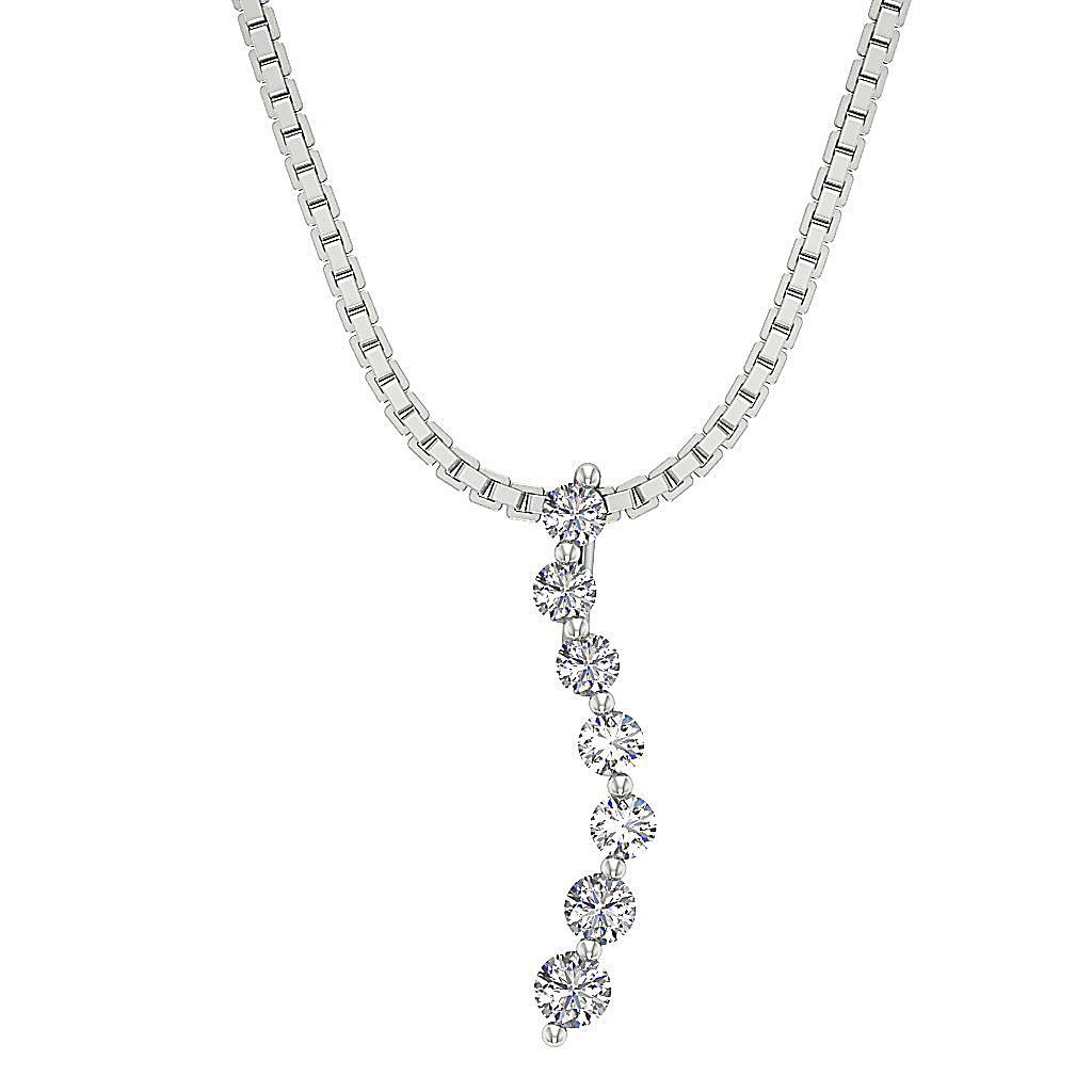 Journey Pendant Necklace I1 G 0 55ct Genuine Diamond White