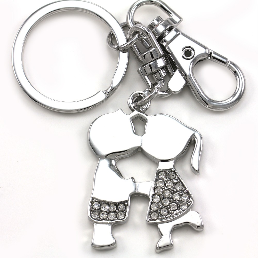Valentines Day His Amp Her Couple Keychain Dangle Key Ring