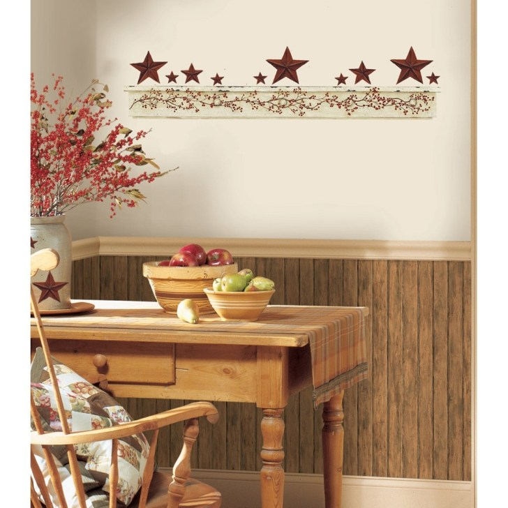 Country Kitchen Wall Decor Decorative Plastic Flower
