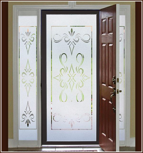 Get Quotations Middot Artscape Inc 01 0124 12in X 83in Etched Gl Design Sidelights Window Film