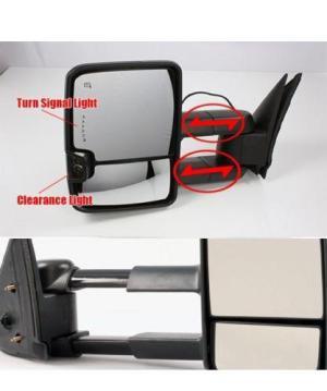 0713 Silverado Towing Power Heated Chrome Mirrors LED