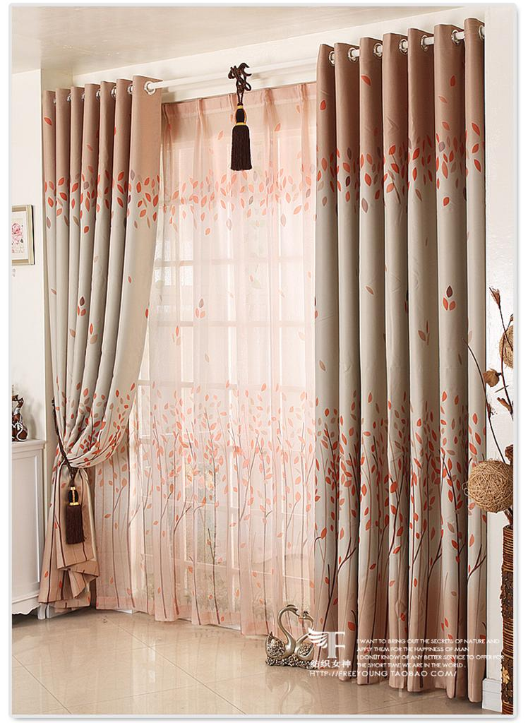 French Country Leaves Blockout Curtain Custom Made Bedroom Living Room Curtains EBay