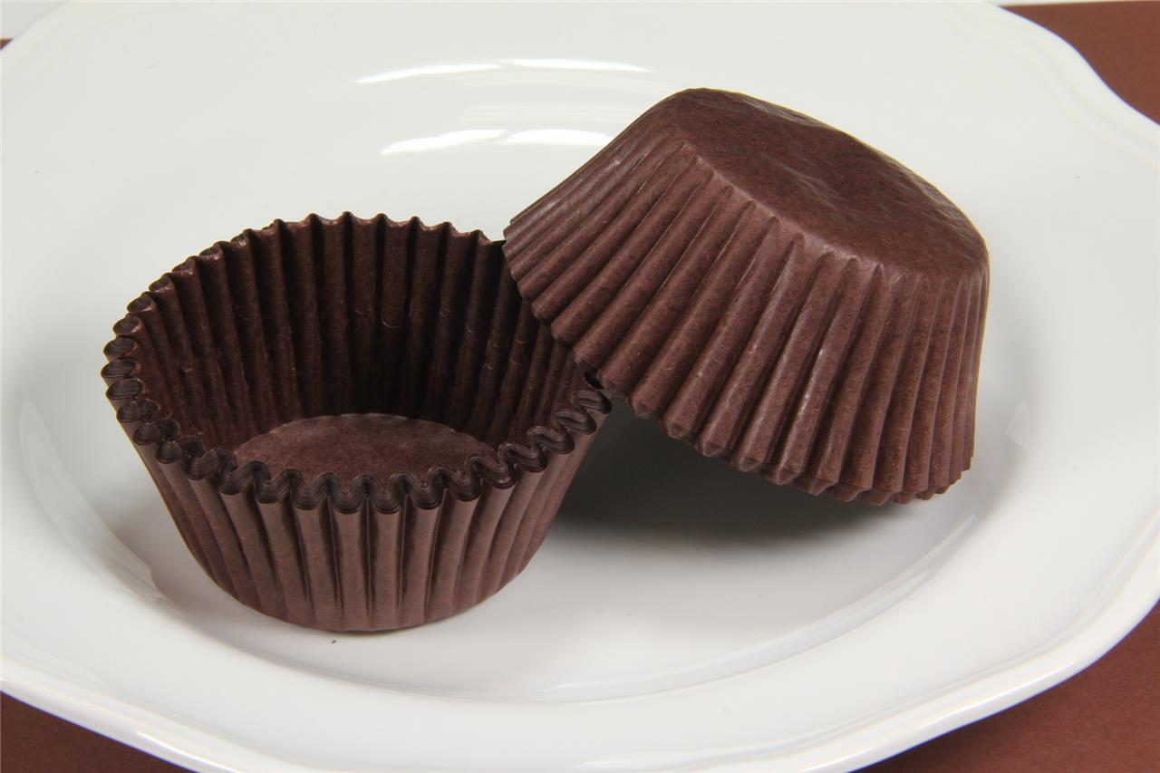"2"" Base Standard Size Brown Cupcake Muffin Paper Liners"