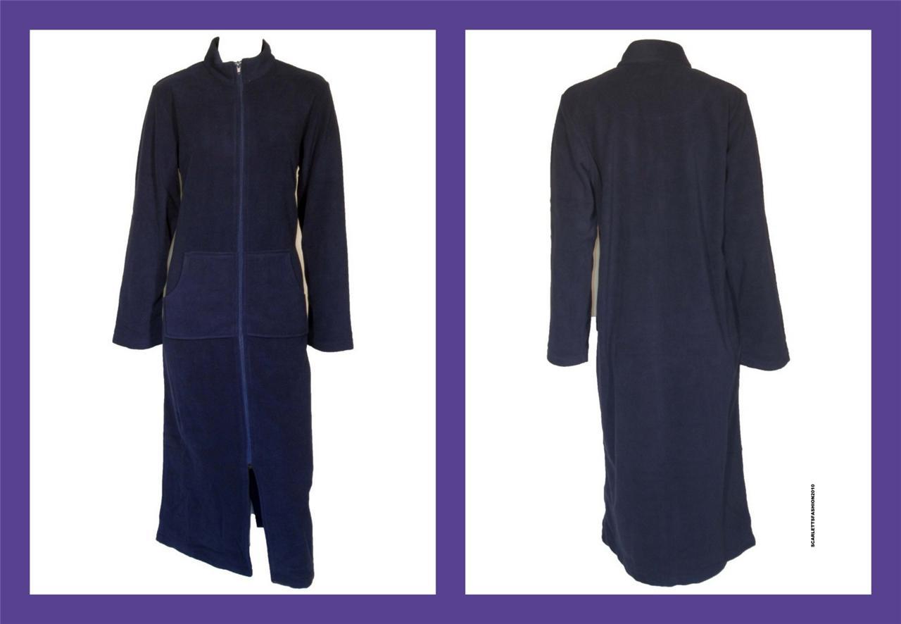 Ladies John Lewis Luxury Robe Dressing Gown Zip Up Front 8