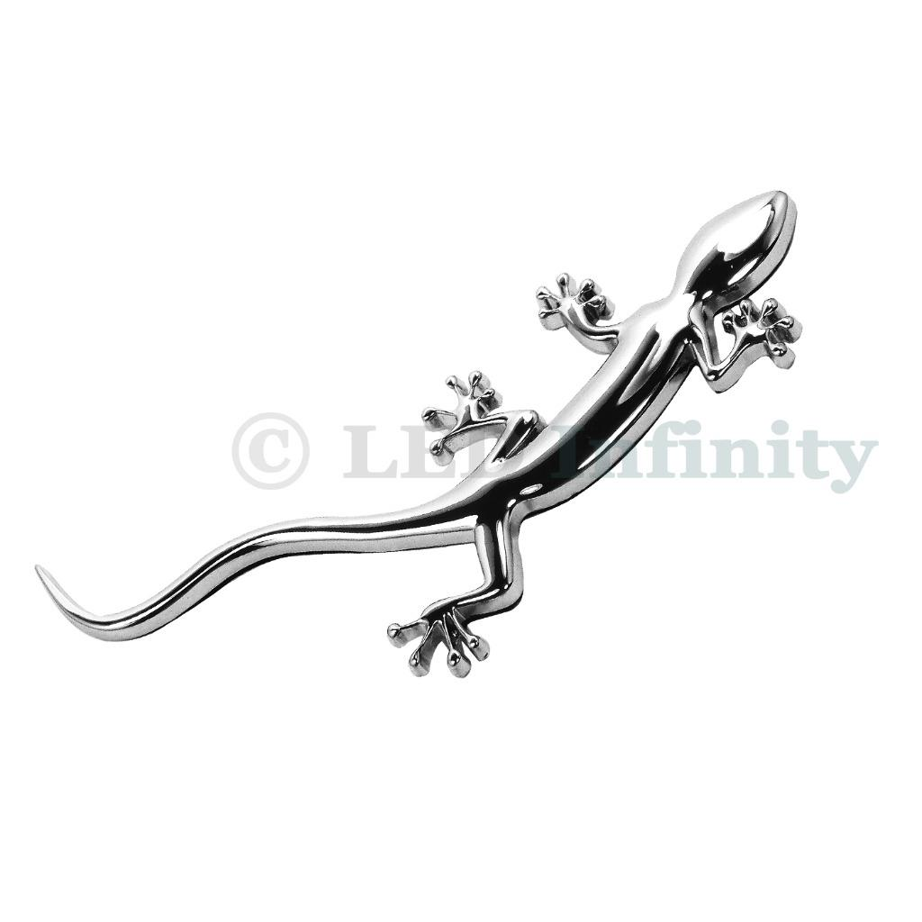 Chrome Silver Lizard Gecko Badge Emblem For Audi Quattro