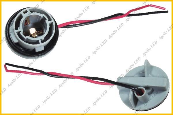 2x 1156 7506 P21W BA15S 7527 Light Bulb Wire Wiring